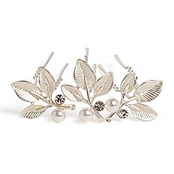 Phase Eight - Metallic harmony leaf hair pins