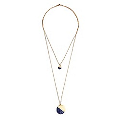 Phase Eight - Metallic emilia double row stone necklace