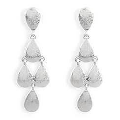 Phase Eight - Metallic alison teardrop drop earrings