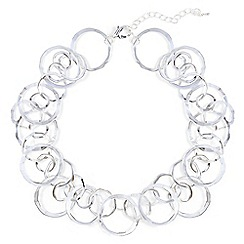 Phase Eight - Metallic amalia multi ring short necklace