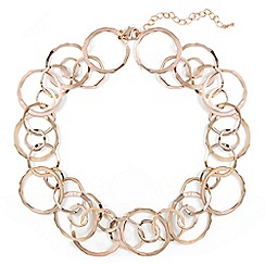 Phase Eight - Natural amalia multi ring short necklace