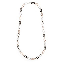 Phase Eight - Multicoloured aurora hammered ring rope necklace