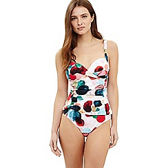 Phase Eight - Cream artist palette spot print tankini top