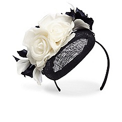 Phase Eight - Blue chelsey flower pillbox fascinator
