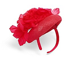 Phase Eight - Pink chelsey flower pillbox fascinator