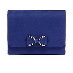 Phase Eight - Blue amelia bow front clutch bag