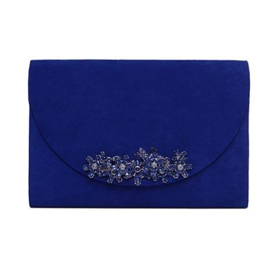 Phase Eight   Blue Eleonor Jewel Trim Clutch Bag by Phase Eight
