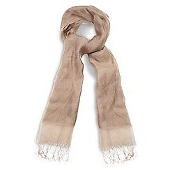 Phase Eight - Brown silk blend shawl