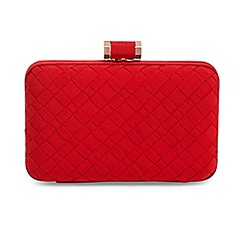Phase Eight - Red clio weave box clutch bag