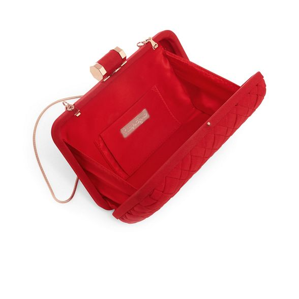 clio Red weave Phase bag clutch Eight box E6qwP