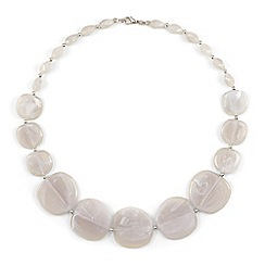 Phase Eight - Grey mariah marbled flat bead necklace