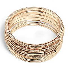 Phase Eight - Rose Gold meryl wrapped bangle bracelet