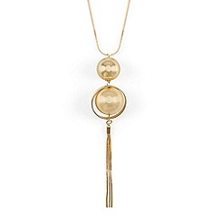 Phase Eight - Metallic macie ball and link long pendant