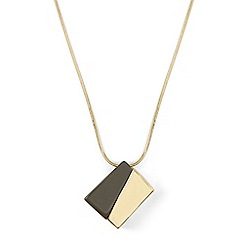 Phase Eight - Metallic mandy assymmetric block long pendant