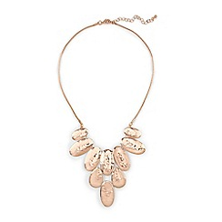 Phase Eight - Natural pru hammered effect fan necklace