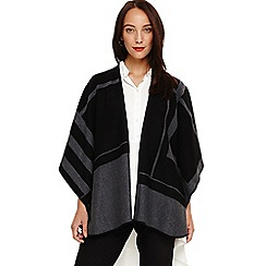 Phase Eight - Black nita oversized check wrap