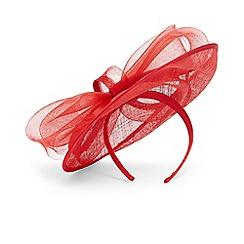 Phase Eight - Red oriana bow disc fascinator