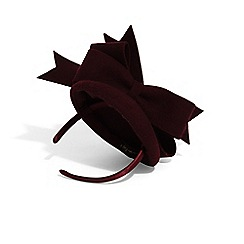 Phase Eight - Red primrose felt bow pillbox fascinator