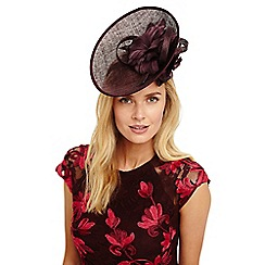 Phase Eight - Claret palma flower detail disc fascinator