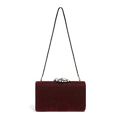 Phase Eight Red Juliet Jewel Top Clutch Bag