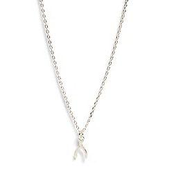 Phase Eight - Silver Jana Wishbone Charm Necklace