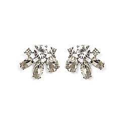 Phase Eight - Metallic zarah crystal flower stud earrings