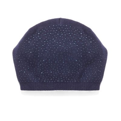 bfb03f61b23fb Phase Eight - Navy olivia embellished beanie