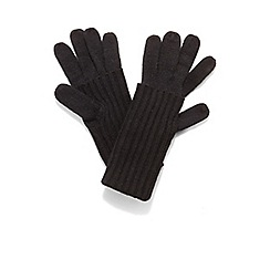 Phase Eight - Black vanna fold over gloves
