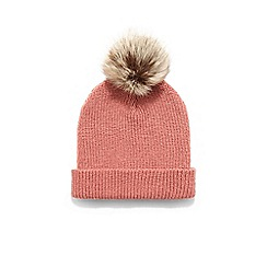 85f3c8bcaf209 Phase Eight - Pink violetta pom pom hat