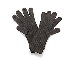 Phase Eight - Dark grey vanna fold over gloves