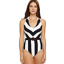 Phase Eight - Blue sawyer striped swimsuit