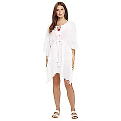 Phase Eight - White belle embroidered kaftan
