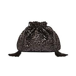 Phase Eight - Black georgina sequin drawstring clutch bag
