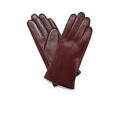 Phase Eight - Blackberry roxanne textured gloves