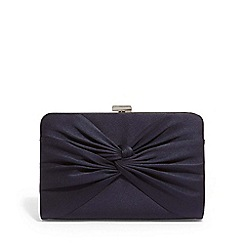 Phase Eight - Blue kendall satin knot front clutch bag