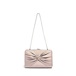 Phase Eight - Brown kendall satin knot front clutch bag