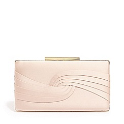 Phase Eight - Pink Rosie satin clutch bag