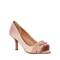 Phase Eight - Cameo Fiona Satin Peep Toe Shoes