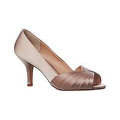 Phase Eight - Pink Sammy satin peep toe shoes