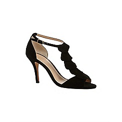 Phase Eight - Black kady suede sandals