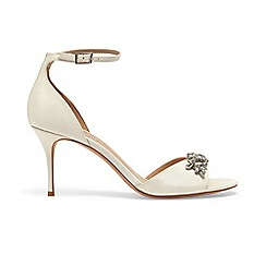 Phase Eight - Cream mallory jeweled front heeled sandals