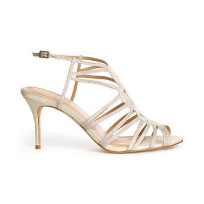Phase Eight - Cream suki cage detail heeled sandals