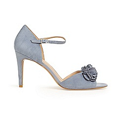 Phase Eight - Blue ophelia flower trim heeled sandals