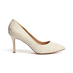 Phase Eight - Cream ceri embroidered lace point court shoes