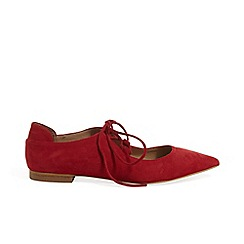 Phase Eight - Red Fran tie front flat shoes