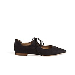 Phase Eight - Navy Fran tie front flat shoes