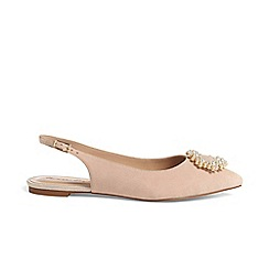 Phase Eight - Abi pearl trim slingback flat shoes