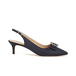 Phase Eight - Blue henni jewel trim pointed shoes