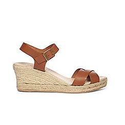 Phase Eight - Tan julienne leather espadrille wedge shoes