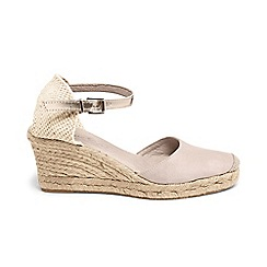 Phase Eight - Kimmy leather espadrille wedge sandals